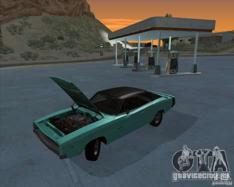 Dodge Charger RT HEMI 1968 для GTA San Andreas вид сзади слева