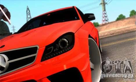 Mercedes Benz C63 AMG для GTA San Andreas вид снизу
