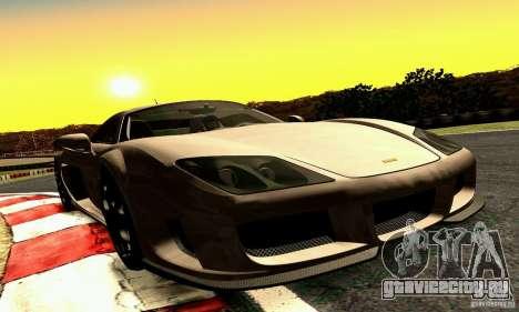 Noble M600 2010 V1.0 для GTA San Andreas вид изнутри