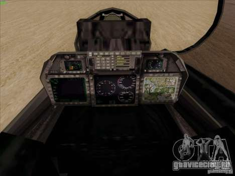 F-14 Tomcat Warwolf для GTA San Andreas вид сбоку