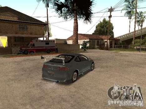 Acura RSX Charge для GTA San Andreas вид сзади слева