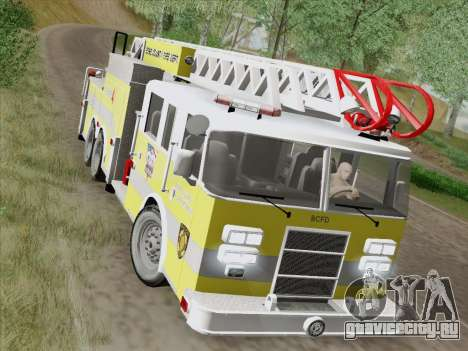 Pierce Arrow XT BCFD Tower Ladder 4 для GTA San Andreas вид сбоку