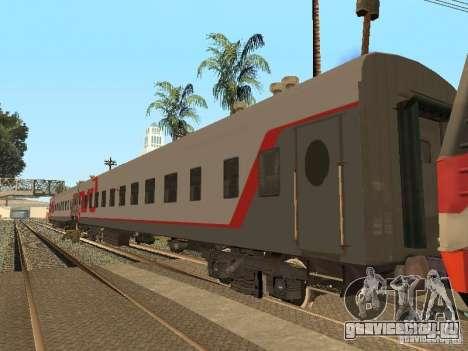 Пассажирский вагон РЖД v2.0 для GTA San Andreas вид слева
