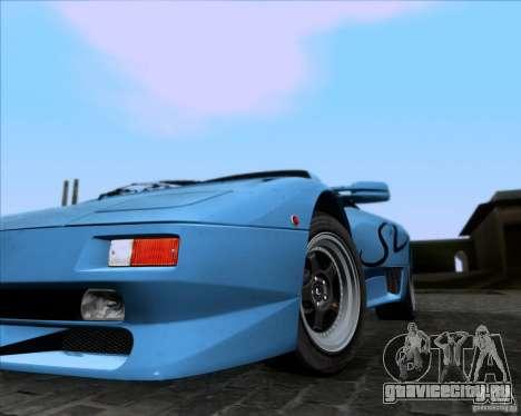 Lamborghini Diablo SV V1.0 для GTA San Andreas вид снизу