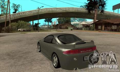 Mitsubishi Eclipse GSX - Stock для GTA San Andreas вид сзади слева