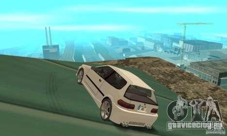 Honda Civic SiR II Tuning для GTA San Andreas вид сзади слева