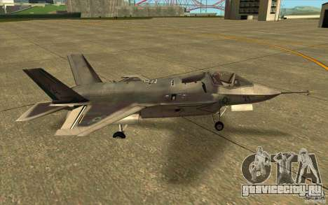 Lockheed F-35 Lightning II для GTA San Andreas вид слева