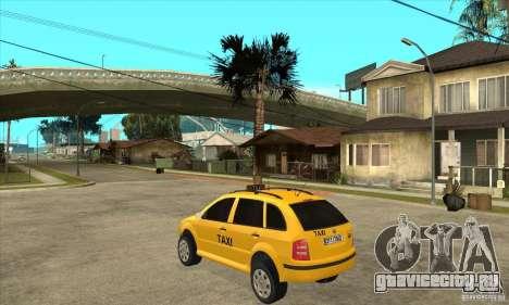Skoda Fabia Combi Taxi для GTA San Andreas вид сзади слева