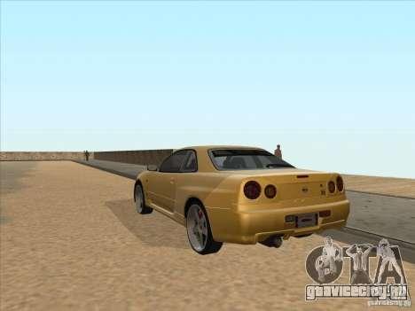 Nissan Skyline R34 VeilSide для GTA San Andreas вид сзади слева