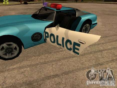 Banshee Police San Andreas для GTA San Andreas вид справа