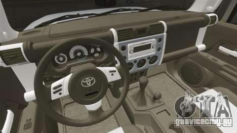 Toyota FJ Cruiser для GTA 4 вид сбоку
