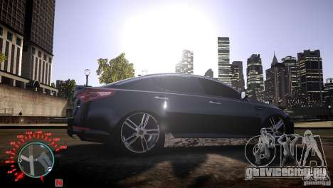 Kia Optima Dub для GTA 4 вид справа