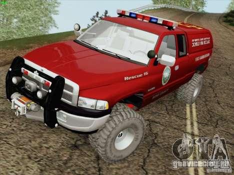 Dodge Ram 3500 Search & Rescue для GTA San Andreas вид сбоку