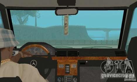 Mercedes-Benz G500 1999 v.1.1 с кенгурятником для GTA San Andreas вид сзади