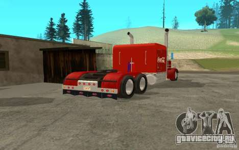 Peterbilt 379 Custom Coca Cola для GTA San Andreas вид справа