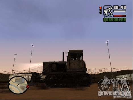 Bulldozer T 130 для GTA San Andreas вид слева