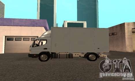 Mitsubishi Fuso Center для GTA San Andreas вид сзади слева