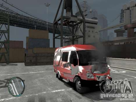 ГАЗель 2705 Telkomsel Van для GTA 4 вид сзади