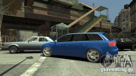 Audi S4 Avant для GTA 4 вид изнутри