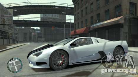 Shelby Super Cars Ultimate Aero для GTA 4 вид сбоку