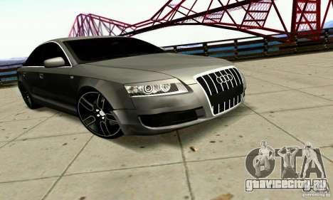 Audi A6 Blackstar для GTA San Andreas вид сзади