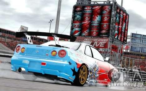 Nissan Skyline R34 Evil Empire для GTA 4 вид справа