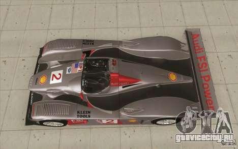 Audi R10 LeMans - Stock для GTA San Andreas вид справа