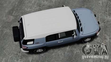 Toyota FJ Cruiser для GTA 4 вид справа