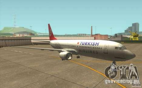Boeing 737-800 THY для GTA San Andreas вид слева