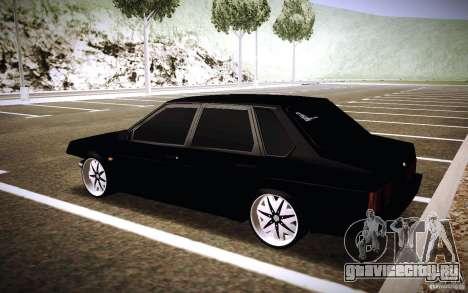 ВАЗ 21099 Turbo для GTA San Andreas вид сзади слева