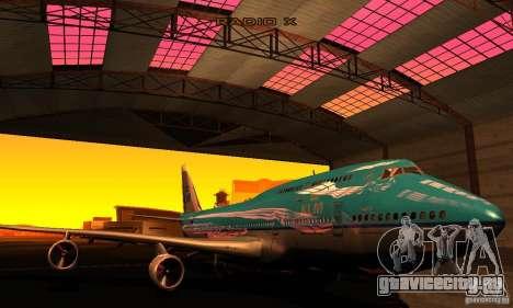 Boeing 747 KLM для GTA San Andreas вид сзади
