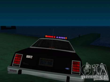 Ford Crown Victoria LTD 1992 SFPD для GTA San Andreas вид сзади слева
