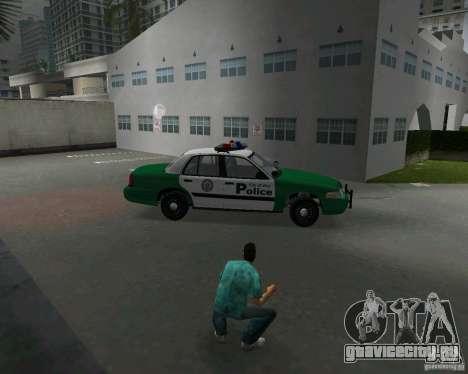 Ford Crown Victoria 2003 Police для GTA Vice City вид изнутри