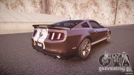 Ford Mustang Shelby GT500 2010 (Final) для GTA 4 вид сверху