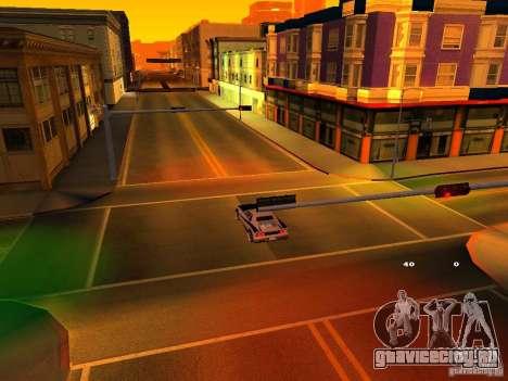 New Cheetah для GTA San Andreas вид изнутри