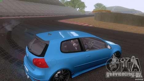 VW Golf 5 R32 2006 StanceWorks для GTA San Andreas вид сбоку