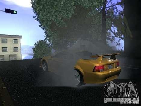Ford Mustang SVT Cobra для GTA San Andreas вид сзади