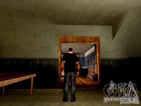 Черная футболка с огненным черепом для GTA San Andreas третий скриншот