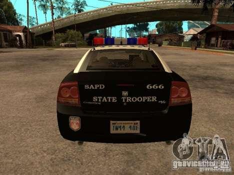 Dodge Charger RT Police для GTA San Andreas вид справа