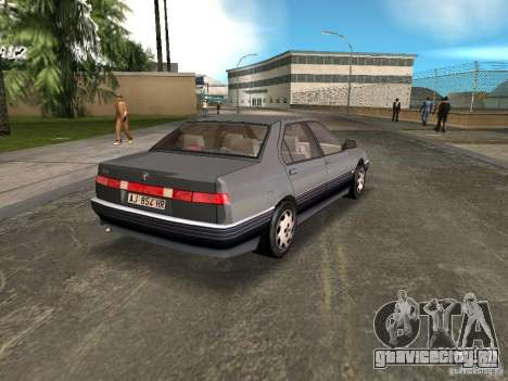 Alfa Romeo 164 для GTA Vice City вид сзади