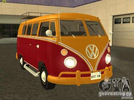 Volkswagen Transporter T1 Camper для GTA San Andreas