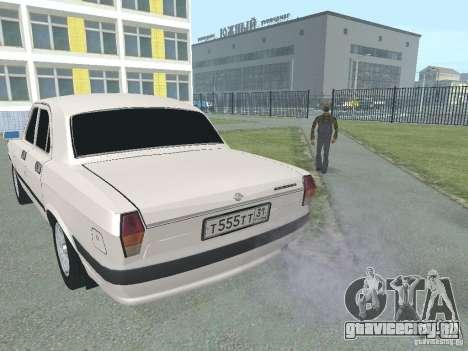 ГАЗ 24-105 Волга для GTA San Andreas вид сзади слева