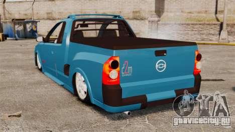 Chevrolet Montana FIXA для GTA 4 вид сзади слева