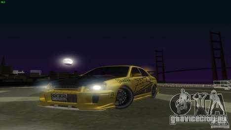 Subaru Impreza WRX No Fear для GTA San Andreas вид сзади слева