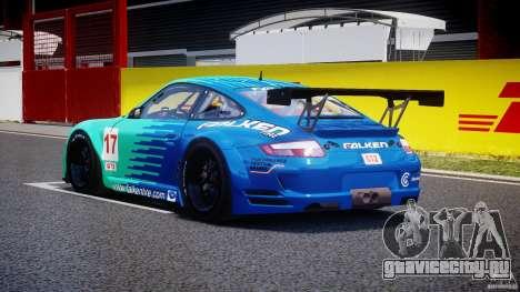 Porsche GT3 RSR 2008 для GTA 4 вид сзади слева