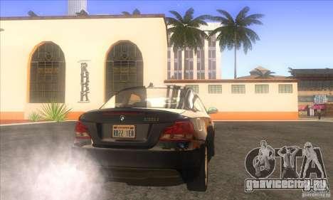 BMW 135i (E82) для GTA San Andreas вид сзади слева