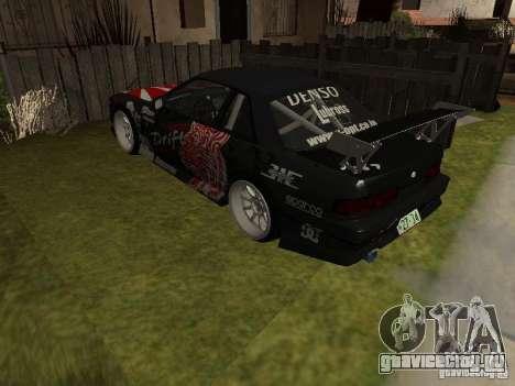 Nissan Silvia S13 JDM для GTA San Andreas вид сзади слева