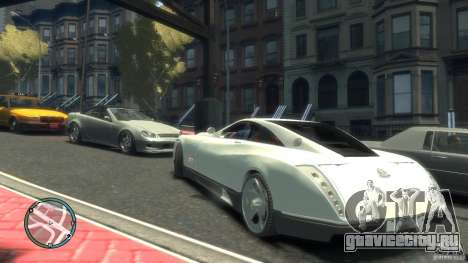 Maybach Exelero для GTA 4 вид справа