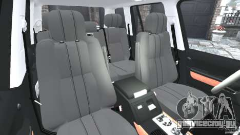 Range Rover Supercharged 2008 для GTA 4 вид изнутри