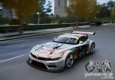 BMW Z4 GT3 2010 V.2.0 для GTA 4 вид сзади слева